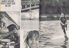 COUPURE DE PRESSE CLIPPING 1968 Nancy Greene  (2 pages)