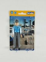 Bruder Bworld #60430 Policewoman Light Skin Figure with Accessories New