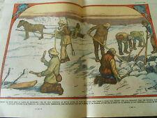 Comment on pêche sous la Glace au Groenland trou de 1 mètre carré Print 1928