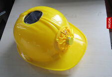 Solar Fan Safety Helmet Hard Ventilate Motorcycle Hat Cap Cooling Cool