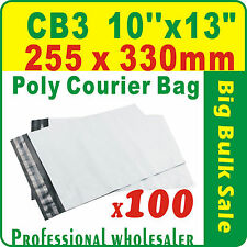 """100 x CB3 255X330mm(10''X13"""") Courier Bag Poly Mailer Satchel Free Postage"""