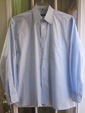 """Eterna Light Blue Buttons Front Long Sleeve Dress Shirt Men's 41/16 """"Excellent"""""""