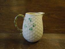 Vintage Porcelain Irish Shamrock Four Leaf Clover Creamer Cup By Belleek Ireland