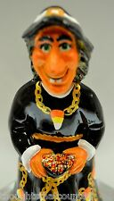 Fenton WITCH BLACK Halloween Candy Corn SWAROVSKI One of a Kind OOAK *FREEusaSHP