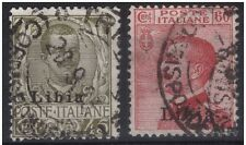 LIBIA - 1917-8 SERIE n° 4 COMPLETA DI DUE VALORI USATI E PERFETTI € 65,00