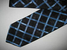 Mens Black Blue Tie Necktie Lino Perros ~ FREE US SHIP (4481)