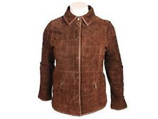 LADIES CHOCOLATE BROWN SUEDE QUILTED JACKET - STYLISH