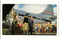 UAL United Airlines Air Lines Postcard Hawaiian Holiday Mainliner Stratocruiser