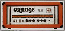 Orange Amplifier Sticker, Guitar amp decal, musical instrument, Stick on