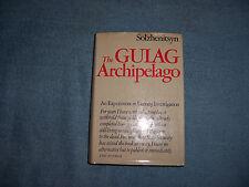 THE GULAG ARCHIPELAGO by Aleksandr I. Solzhenitsyn/1st Ed./HCDJ/History/Russia