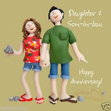 HOLY MACKEREL  DAUGHTER & SON-IN-LAW ANNIVERSARY CARD **1ST CLASS P&P