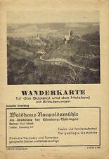 Wanderkarte für das Saaletal Holzland Ausgabe Eisenberg Thüringen um 1930