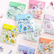 45Pcs Cute Flowers Stickers Kawaii Stationery Scrapbooking Journal Cute Stickers