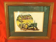 RAY CROUSE JOHN DEERE TRACTOR PRINT - CARE PACKAGE FROM HOME - DBL MAT - FRAMED