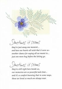 Sympathy Loss Of Your Loved One Purple Botanical Flower Theme Hallmark Card