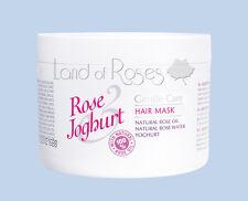Máscara De Pelo Rosa para yogures con aceite de rosa natural y yogur búlgaro