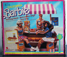 CALIFORNIA BARBIE HOT DOG STAND MATTEL 1987 NUOVO #4463 MADE IN ITALY