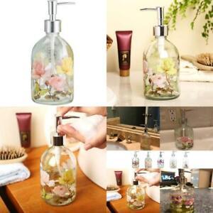 Topadorn Glass Soap Dispenser Bottle With Plastic Pump,17 Oz