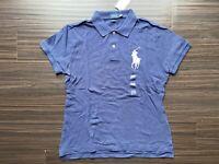 Polo Ralph Lauren Women's Polo Shirt Skinny Fit Mesh Short Sleeve Big Pony Logo