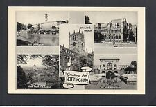 NOTTINGHAM MULTI-VIEW POSTCARD BY PHOTOCHROM CO. UNPOSTED