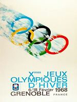 ART PRINT POSTER SPORT ADVERT WINTER OLYMPIC GAMES GRENOBLE FRANCE NOFL1056