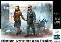 VOLKSSTURM 1945. AMMO TO THE FRONTLINE.GERMAN CHILDREN WITH CART 1/35 MASTERBOX