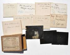 Lot de 11 négatifs PHOTOS sur PLAQUES de VERRE : LAEKEN 1913, PARIS 1914...