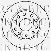 REAR  BRAKE DISCS PAIR FOR VW GENUINE OE BORG & BECK  BBD4382