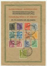 Germany 1947 Reaching For Peace issue on souvenir sheet Hamburg July 5-27 1947