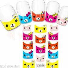 Nail Art Water Decals Transfers Easter Spring French Decoration Kawaii UV Tips