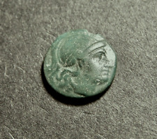LYSIMACHOS, King of Thrace, Helmeted Athena & Leaping Lion, c 300 BC Greek Coin