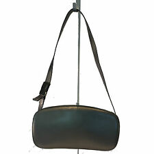 Salvatore Ferragamo Purse Shoulder Bag Pochette | Pewter Bronze Metallic Leather