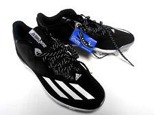 New Adidas Men's Dual Threat 2.0 Baseball Cleats Black Ortholite Size 12 F37751