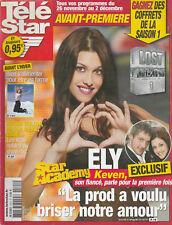 Télé Star N°1521 - 21/11/2005 - Star ac' Ely - Sophie Marceau - yannic kNoah