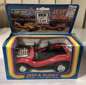 Vintage VW Dune Buggy Die Cast Car Pull Back Action New Hong Kong T 623A