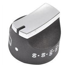 STOVES Genuine Oven Control Knob Switch Temperature Thermostat Black Chrome