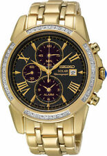 Gold Plated Case Men's Sport Adult Wristwatches