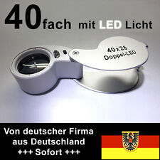 Stamps magnifier, thread counter, 40x, Big Lens System 25,4mm with LEDs
