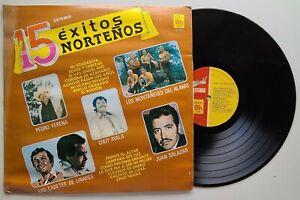 15 Exitos NORTEÑOS / Chuy Ayala, Cadetes de Linares, etc. / 1982 Vinyl LP