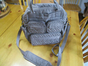 LUG Mini Puddle Jumper 2 Purse,Convertible Everyday Bag,Heather Gray Color
