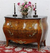 Antique Country French Inlaid Burl Walnut Marble Ay Entry Chest Circa 1890