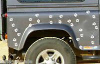44 X DOG PAW PRINT STICKERS Any Colour Car Wall Art Decals Graphics