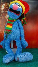 "Sesame Street 1994 Grover Muppets 24"" Plush Stuffed Doll w Hat & Striped Scarf"