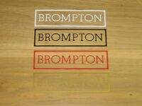 2 x Brompton Cycling Stickers NEW Printed Decals Bike Vintage Frame Forks Phone