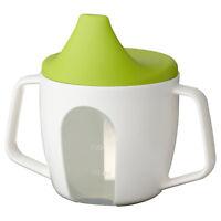 NEW IKEA BÖRJA Borja Baby Training Beakers / Sip Cups With Lids & Large Handle