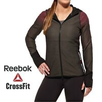Reebok Womens Crossfit Hermosa Beach Fitness Hooded Jacket Free Tracked Post