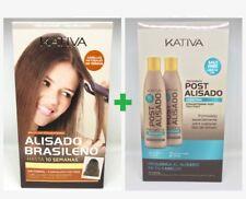 Kativa Keratina & Argan Oil Alisado Brasileño  + Pack Post Tratamiento Alisado