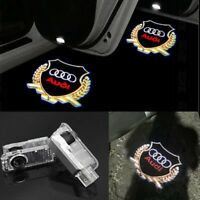 2 LED Logo Light Shadow Projector Car Door Courtesy Laser for Audi A4 A6 A8 Q7