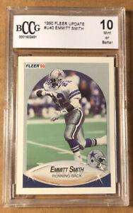 Emmitt Smith 1990 Fleer Rookie Card #U40 BCCG 10 MINT OR BETTER (BIGJ'S) Cowboys