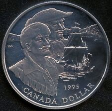 1995 Canada Uncirculated Silver Dollar Coin (25.175 Grams .925 Silver)